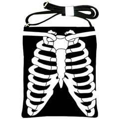 X Ray Shoulder Sling Bags by Valentinaart