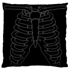 X Ray Large Flano Cushion Case (one Side) by Valentinaart