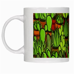 Cactus White Mugs by Valentinaart