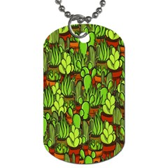 Cactus Dog Tag (two Sides) by Valentinaart