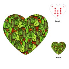 Cactus Playing Cards (heart)  by Valentinaart