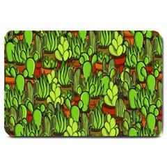 Cactus Large Doormat  by Valentinaart