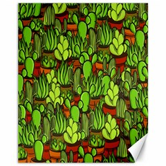 Cactus Canvas 11  X 14   by Valentinaart