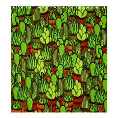 Cactus Shower Curtain 66  X 72  (large)  by Valentinaart