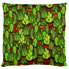 Cactus Large Cushion Case (two Sides) by Valentinaart