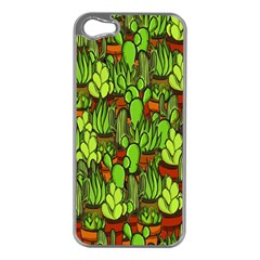 Cactus Apple Iphone 5 Case (silver) by Valentinaart