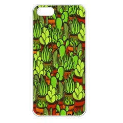 Cactus Apple Iphone 5 Seamless Case (white) by Valentinaart