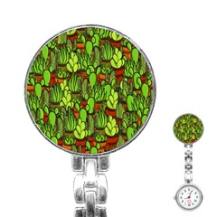Cactus Stainless Steel Nurses Watch by Valentinaart