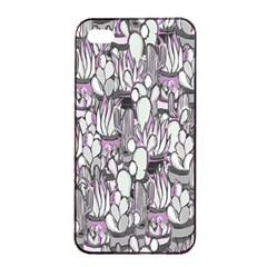 Cactus Apple Iphone 4/4s Seamless Case (black) by Valentinaart