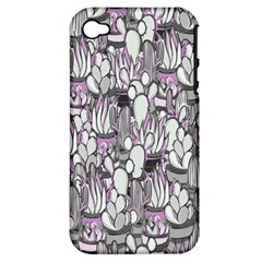 Cactus Apple Iphone 4/4s Hardshell Case (pc+silicone) by Valentinaart