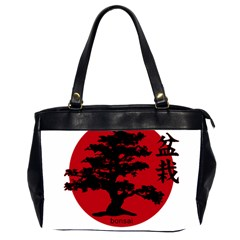 Bonsai Office Handbags (2 Sides)  by Valentinaart