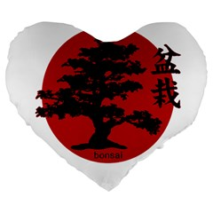 Bonsai Large 19  Premium Heart Shape Cushions by Valentinaart