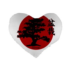 Bonsai Standard 16  Premium Flano Heart Shape Cushions by Valentinaart