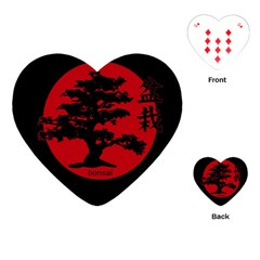 Bonsai Playing Cards (heart)  by Valentinaart