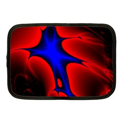 Space Red Blue Black Line Light Netbook Case (medium)