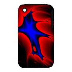 Space Red Blue Black Line Light Iphone 3s/3gs by Mariart