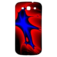 Space Red Blue Black Line Light Samsung Galaxy S3 S Iii Classic Hardshell Back Case by Mariart