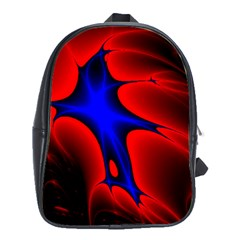 Space Red Blue Black Line Light School Bags (xl)  by Mariart
