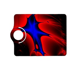 Space Red Blue Black Line Light Kindle Fire Hd (2013) Flip 360 Case by Mariart
