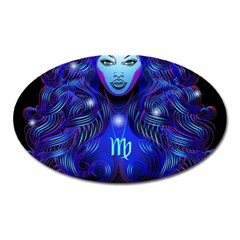 Sign Virgo Zodiac Oval Magnet by Mariart