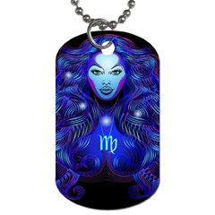 Sign Virgo Zodiac Dog Tag (one Side) by Mariart