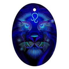 Sign Leo Zodiac Oval Ornament (two Sides) by Mariart
