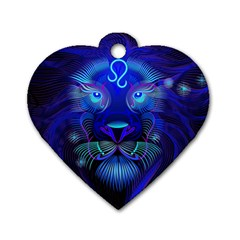 Sign Leo Zodiac Dog Tag Heart (one Side) by Mariart