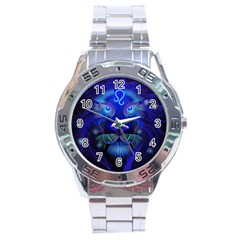 Sign Leo Zodiac Stainless Steel Analogue Watch by Mariart