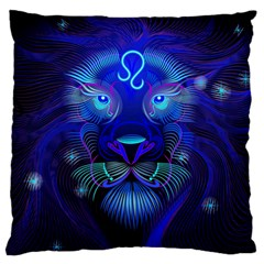 Sign Leo Zodiac Standard Flano Cushion Case (one Side) by Mariart
