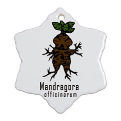Mandrake Plant Snowflake Ornament (two Sides) by Valentinaart