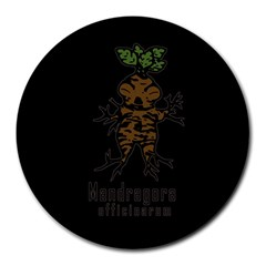 Mandrake Plant Round Mousepads by Valentinaart