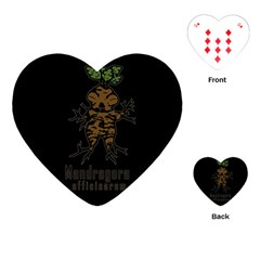Mandrake Plant Playing Cards (heart)  by Valentinaart
