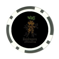Mandrake Plant Poker Chip Card Guard by Valentinaart