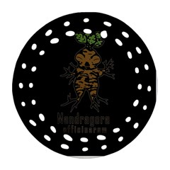 Mandrake Plant Round Filigree Ornament (two Sides) by Valentinaart