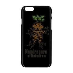 Mandrake Plant Apple Iphone 6/6s Black Enamel Case by Valentinaart
