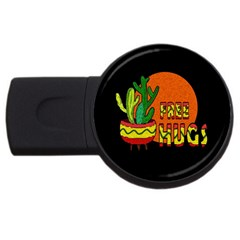 Cactus   Free Hugs Usb Flash Drive Round (2 Gb) by Valentinaart