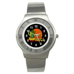 Cactus   Free Hugs Stainless Steel Watch by Valentinaart