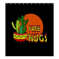 Cactus   Free Hugs Shower Curtain 66  X 72  (large)  by Valentinaart