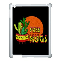 Cactus   Free Hugs Apple Ipad 3/4 Case (white) by Valentinaart