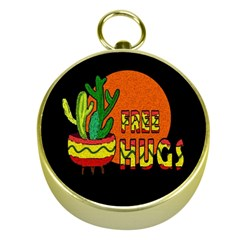 Cactus   Free Hugs Gold Compasses by Valentinaart