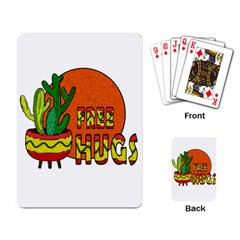 Cactus   Free Hugs Playing Card by Valentinaart