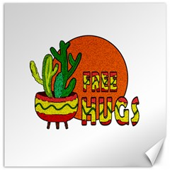 Cactus   Free Hugs Canvas 20  X 20   by Valentinaart