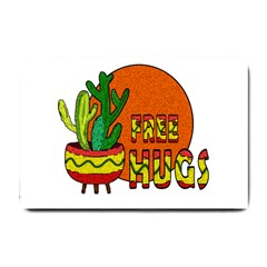 Cactus   Free Hugs Small Doormat  by Valentinaart
