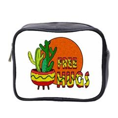 Cactus   Free Hugs Mini Toiletries Bag 2 Side by Valentinaart