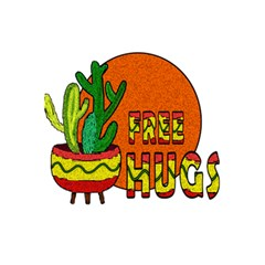 Cactus   Free Hugs 5 5  X 8 5  Notebooks by Valentinaart