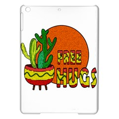 Cactus   Free Hugs Ipad Air Hardshell Cases by Valentinaart