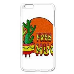 Cactus   Free Hugs Apple Iphone 6 Plus/6s Plus Enamel White Case by Valentinaart