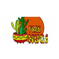 Cactus   Free Hugs Satin Wrap by Valentinaart