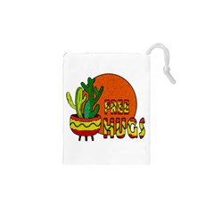 Cactus   Free Hugs Drawstring Pouches (xs)  by Valentinaart