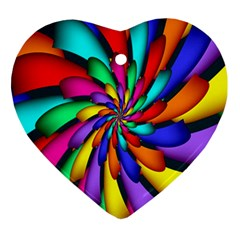 Star Flower Color Rainbow Ornament (heart) by Mariart